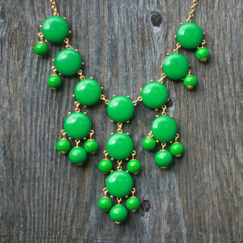 J Crew Bubble Necklace Inspired  Green Bubble by BubbleIsland