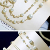 Double C Pearl Necklace