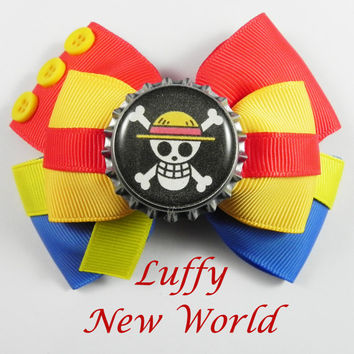 Luffy New World Hair Bow (( One Piece ))
