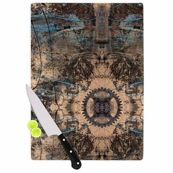 "Bruce Stanfield ""Zion 1178"" Brown Blue Cutting Board"