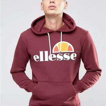 2018 Ellesse Lace Up Sweatshirt Graphic Brand Warm Hoody Women And Men's Unisex Sweatshirt