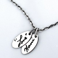 Custom Signature Pendant - Jak Figler - Made to Order - Handwriting - Necklace - Gift