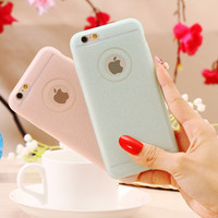 For iphone 6 6s / Plus Case Bling Powder Transparent Matte Silicon Back Cover Soft TPU Glitter Women Girly Capa For iphone6 i6