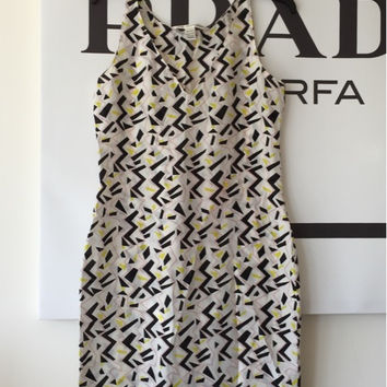 Dvf White Printed Silk Mini Dress 0/Xs  (Diane von Furstenberg)
