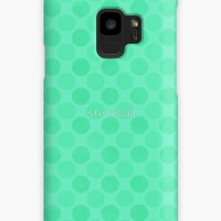 'Faded green circles pattern ' Case/Skin for Samsung Galaxy by steveball