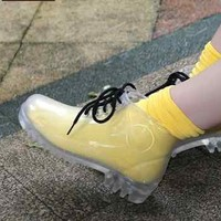 Transparent unisex GUMBOOTS RAIN BOOTS Gum Boots MARTIN boots FREE RAINBOW SOCKS