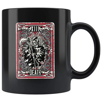 Tarot Card Mug Death Tarot Card 11oz Black Coffee Mugs
