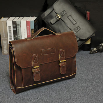 Designer Superb Leather men Bag Casual Handbags vintage Men Crossbody Bags Hasp Business Men's Travel Bags Laptop Briefcase Bag
