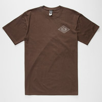 Volcom A Frame Mens T-Shirt Brown  In Sizes