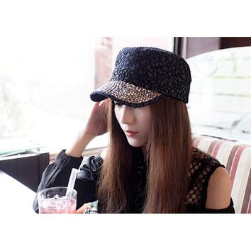 New Fashion sport caps snapback outdoors women's sun hat active summer lace and crystal stones decorated