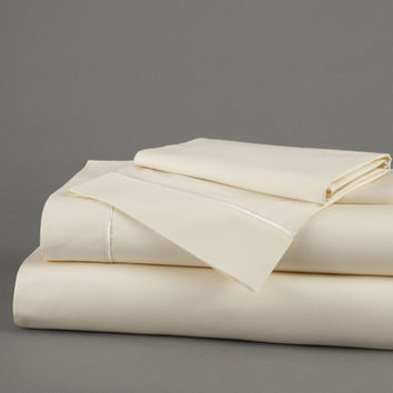 260 TC Deep Pocket Sateen Sheets in Ivory