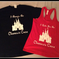 Fast Processing/ Priority Shipping Fast Shipping Disney Inspired Cinderella Castle Engagement Couples T Shirts