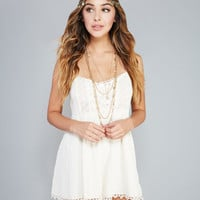 Daydreamer Lacey Gauze Romper | Wet Seal