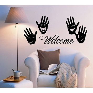 Vinyl Wall Decal Stickers Welcome Home Decor Words Positive Letters 2032ig (22.5 in x 10 in)