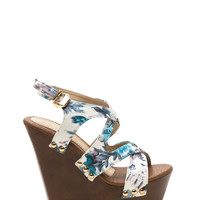 Contact High Faux Leather Wedges