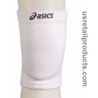 ASICS ACE Unisex Volleyball Knee Pads, White, One Size