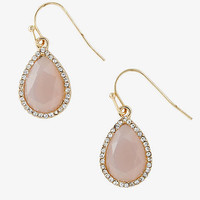 Blush Teardrop And Rhinestone Earring from EXPRESS