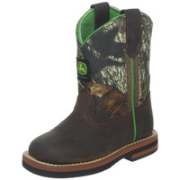 John Deere Boys Johnny Poppers Toddler Leather Cowboy, Western Boots
