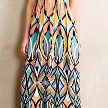 NWT Anthropologie Dahlia Embroidered Maxi Dress Sz 0 - By Floreat