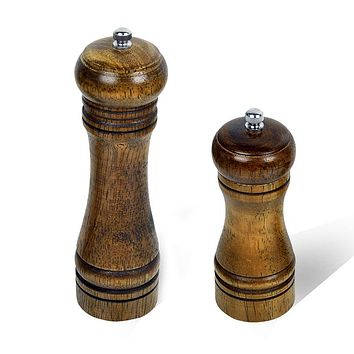 High Quality 5 8 Inch Wood Pepper Mill Manual Kitchen Grinder Ceramic Core Grinding Pure natural wood Design Cooking Tools