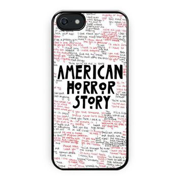 American Horror Story Quotes Supreme iPhone 5/5S Case