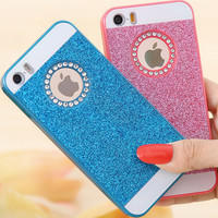 Cute Candy Glitter Bling Crystal Diamond Back Cover Hard Phone Cases  For iPhone 5 5S 5G