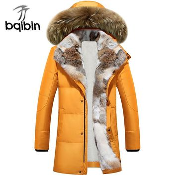 Long Hooded Parkas Men Thick Warm Mens Winter Jacket Male Plus Size S-5XL Brand Clothing Man Coat Fur Collar Overcoats