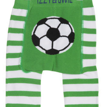 Green and White Soccer Boys Legging, Izzy & Owie