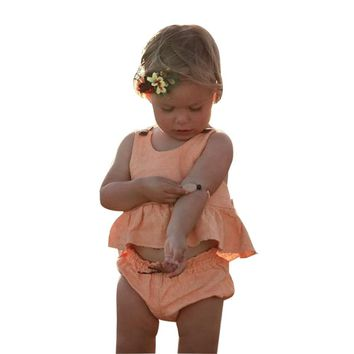 3-24M Girl Sleeveless Mini Dress with Bloomers 2PC Set