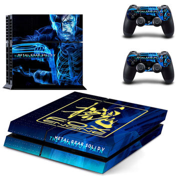 Metal gear solid 5 the phantom pain design skin for ps4 decal sticker console & controllers