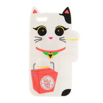 Katy Perry 3D Light Up White Waving Cat Cover for iPhone 6