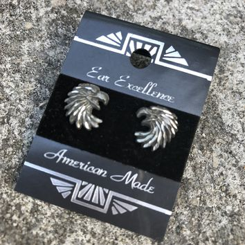 Sparta Pewter American Made Eagle Stud Earrings
