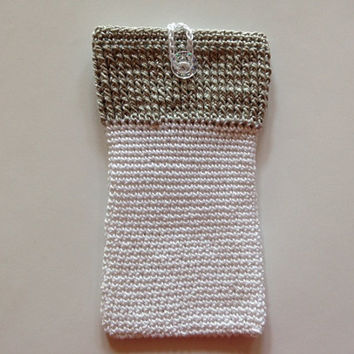 Cozy case Iphone 5 4 4S Samsung Galaxy 3S 4S Kindle Ipad crochet handmade - 100% Cotton