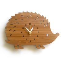 Hedgehog Clock Large