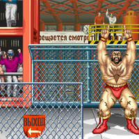 Street Fighter II Zangief stage video game poster