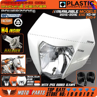 Motorcycle Dirt Bike Motocross Supermoto Universal Headlight With H4 Bulb For KTM SX F EXC XCF SMR Headlamp 2016 Free Shipping