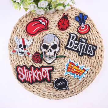 1Pcs Sell Cheap Embroidered Outlaw Biker Patches For Clothing Accessories Iron On Punk Rock Patch Badges For Clothes Stickers