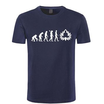 Evolution Of Buddha T-Shirts - Men's Crew Neck Novelty Top Tee