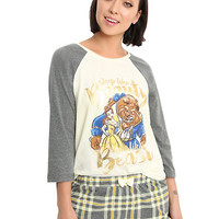 Disney Beauty And The Beast Plaid Girls Sleep Set