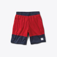 Diamond Arch Basketball Shorts in Red - SHORTS - BOTTOMS