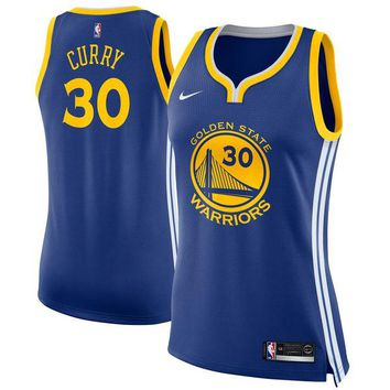 Women's Golden State Warriors Stephen Curry Nike Blue Swingman Jersey - Icon Edition