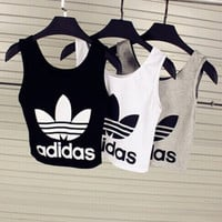 Adidas Woman Fashion Sexy Casual Print Sport Gym Vest Tank Top Cami