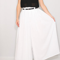 Off white Palazzo pants Women pant skirt Summer pants