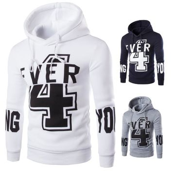 Hats Pullover Winter Stylish Print Casual Men's Fashion Hoodies [10669406787]