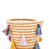 Painted Tassel Basket