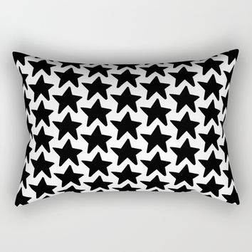 All the Stars in the Sky Black+White Rectangular Pillow by Inspire Your Art