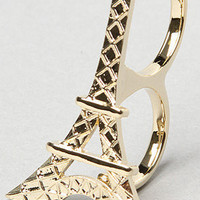 The Eiffel Tower Two Finger Ring