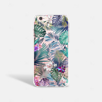 iPhone 7 Case Tropical iPhone 7 Case Clear Tech Gifts Summer iPhone 7 Plus Case Transparent Samsung Galaxy S7 Edge Case iPhone SE Case