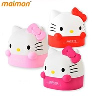 Table Decorative Cute Hello Kitty Roll Paper Storage Boxes Home Office Desktop Plastic Cat Tissue Container Paper Organizer Box
