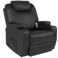Best Choice Products Massage Recliner Sofa Chair Heated W/Control Ergonomic Executive Couch Lounge Bk - Walmart.com